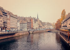 Old Customs House (Ancienne douane) Ill river in Strasbourg Stock Images