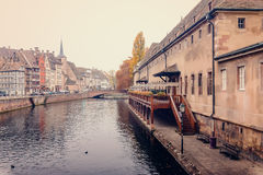 Old Customs House (Ancienne douane) the Ill river in Strasbourg Royalty Free Stock Photography