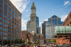 The old customs tower in the Boston Harbor area Stock Image