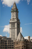 The old customs tower in the Boston Harbor area Stock Photos
