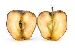 Old cut Apple Royalty Free Stock Images