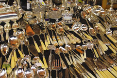 Old Cutlery. Exhibition of old cutlery Stock Photo
