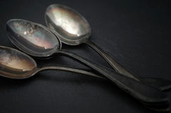 Old cutlery. For a black background Stock Images