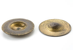 Old cymbals Royalty Free Stock Photos