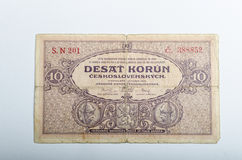 Old Czech banknotes, money Stock Photo