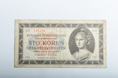 Old Czech banknotes, money Stock Photography