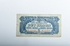 Old Czech banknotes, money Stock Photos