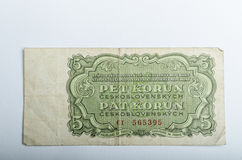 Old Czech banknotes, money Royalty Free Stock Photos