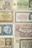 Old Czech banknotes, money Royalty Free Stock Photography