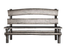 Old 3d bench. Digitally rendered illustration of an old wooden bench on white background Stock Image