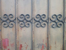 Old Dacay Curved Steel Fence Royalty Free Stock Photo