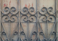 Old Dacay Curved Steel Fence Stock Photography