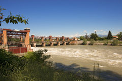 Old Dam in Chievo Verona Italy (1923) Stock Photo