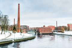 Old dam in the city of Helsinki, Finland Royalty Free Stock Image
