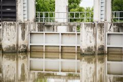 Old dam in country Thailand Stock Image