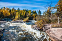 The old dam Pinava in autumn day Royalty Free Stock Photos