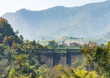 Old dam wall. Royalty Free Stock Photo