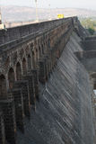Old Dam Wall. A view of the architecture of an old dam wall made of stones in India Stock Photo