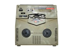 Old damaged analog recorder Royalty Free Stock Photos