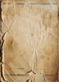 Old damaged antique paper texture, vector background Royalty Free Stock Photography