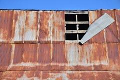 Old Damaged Barn Roof Stock Photo
