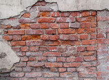 Old damaged brick wall Stock Image