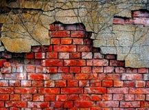 Old  damaged brick wall. Old and damaged brick wall Royalty Free Stock Photo