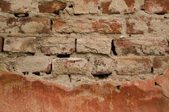 Old damaged brick wall Stock Photography