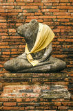 Old buddha statue in ayutthaya thailand Royalty Free Stock Photography