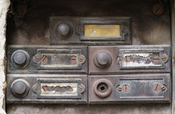 Old and damaged doorbells - buttom Stock Images
