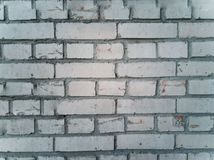 Old damaged brick wall stock photography