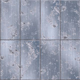 Old damaged grungy metal plates Stock Photos
