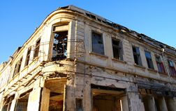 Old damaged  house Royalty Free Stock Images
