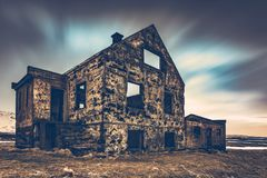 Old damaged house Royalty Free Stock Photos