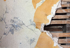 Old Wallpaper Wall Royalty Free Stock Photography