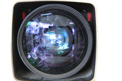 Old damaged lens of tv camera Stock Photo