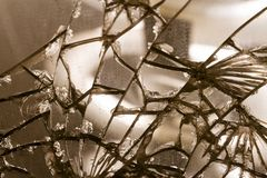 Old damaged mirror glass - concept image.  royalty free stock image