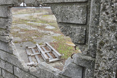 Old damaged pallet Stock Images