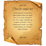 Old damaged paper with text Royalty Free Stock Images