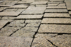 Old damaged pavement Royalty Free Stock Image