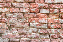 Old damaged red brick wall Royalty Free Stock Photo