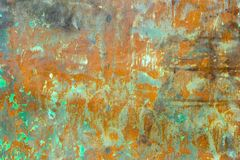 Old damaged rusty metal background. texture of rusty iron.  Royalty Free Stock Image