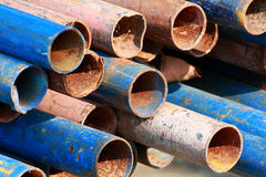 Old damaged rusty pipe Stock Photography