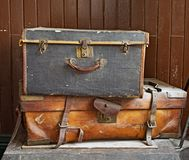 Old damaged Suitcases Royalty Free Stock Photos
