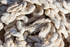 Old damaged tangled rope Royalty Free Stock Images