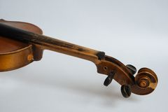 Old damaged violin Stock Photography