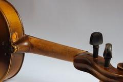 Old damaged violin Stock Photo