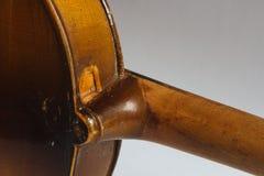 Old damaged violin Stock Photos