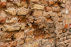 Old damaged wall. Royalty Free Stock Image
