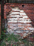 Old damaged wall with bricks Stock Image